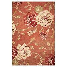 natures flower brick 8 ft x 11 ft area rug