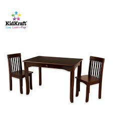 kidkraft avalon table and chair set in espresso