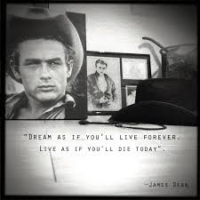 """Dream As If You Ll Live Forever James Dean Quote Best Of DAY 24 """"Dream As If You'll Live Forever Live As If You'll Die"""