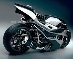 3d motorcycle bike black silver