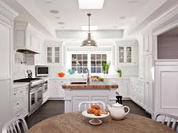 kitchen cabinets home office transitional:  elegant transitional white kitchens with breakfast area