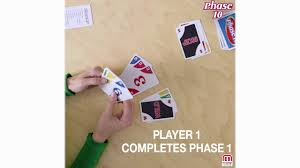 There are 2 identical reference cards (each listing the 10 phases), and 24 x 4 numbered cards of red, blue, green, and yellow cards respectively (each color in two sets of numbers 1 to 12). How To Play Phase 10 Gameplay Youtube