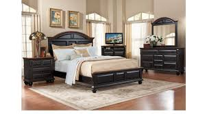 Black Queen Bedroom Sets Berkshire Lake Black 7 Pc Queen Panel