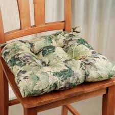 comfy kitchen seat cushions pillows square nature inspired dining chair cushion pad green leaves pattern two