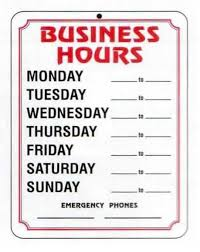 Best Images Of Free Printable Business Hours Sign Nurul Amal