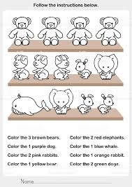 Color The Picture Stuffed Animals On The Shelf Worksheet For ...