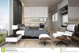 Modern Luxury Bedroom Interior Design The Interior Design Of Modern Luxury Bedroom Stock
