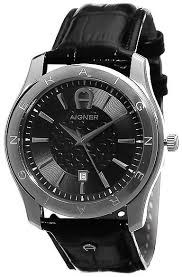 aigner lazio ii men s black dial leather band watch a32190 this item is currently out of stock