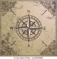 compass design vintage background edge ornaments compass vintage background design