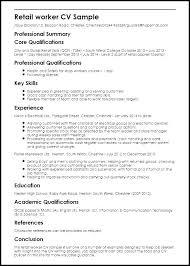 Experience Summary Resume Gorgeous Retail Job Resume Retail Job Resume With No Experience New Preparing