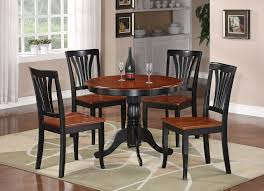 White Wood Dining Table Chairs Set Round Pedestal Kitchen 5 Pc 42