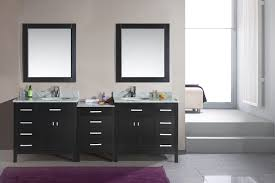 bathroom double sink vanity units. bathroom black wooden double vanity with white sink and top on ceramics flooring units