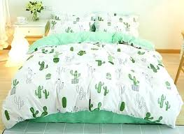 white bedding sets twin green painting cactus printed fresh style cotton 4 piece 2 white nursery bedding sets