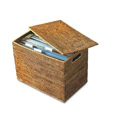 hanging file box. Wicker Filing Box File Basket With Lid Rattan Hanging Chest Letter
