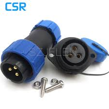 sp2110 electrical terminal led outdoor lighting waterproof connector with 3 contacts 3 pin plug and socket cur rating 30a in connectors from home