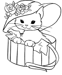 Small Picture Cute Cat Coloring Pages Cutest Animal Ever Gianfredanet