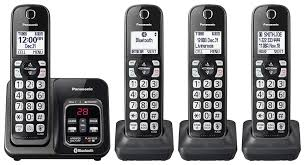 Panasonic Cordless Phone Compatibility Chart Panasonic Expandable Cordless Phone System With Link2cell Bluetooth Voice Assistant Answering Machine And Call Blocking 4 Cordless Handsets