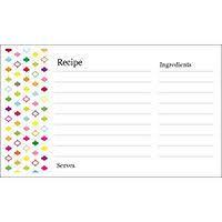 Free Avery Templates Multi Color Design Recipe Card On
