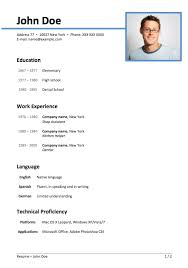 simple resume format ms word file resume format in word file