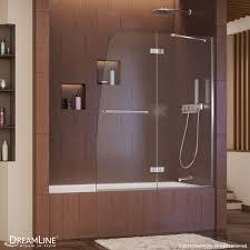 hinged tub door
