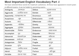 Translation Chart Hindi To English English Vocabulary With Hindi Meaning Pdf Download English