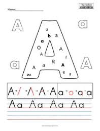 Draw a line to match each picture with the letter that it begins with. Letter A Practice Teaching Squared