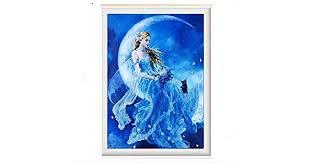 <b>DIY 5D</b> Moon Fairy <b>Resin Diamond</b> Embroidery Kit: Amazon.ae ...