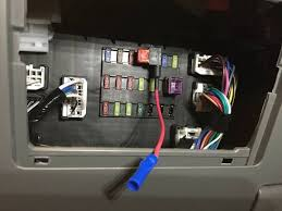 mod adding 12v power outlets to the center console w pics the add a circuit provides the power wire now we need a ground there is a bolt below the fuse box that works well for this