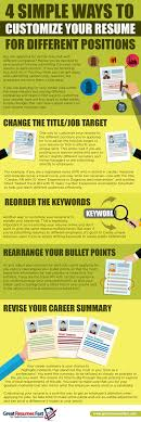 Different Resumes For Different Jobs Infographic 100 Simple Ways To Customize Your Resume For Different 60