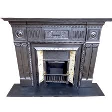 antique cast iron fireplace surround vf antique fireplace mantels for home improvement