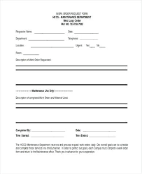 construction work order format construction work order template format request form in word