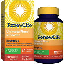 Renew Life <b>Ultimate Flora Probiotics Everyday</b> Vegetarian Capsules ...