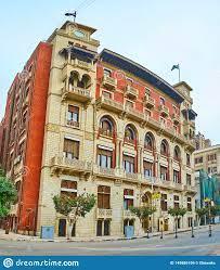 Das Gebäude Von Bank Misr, Kairo, Ägypten Redaktionelles Stockbild - Bild  von haus, allee: 149886109