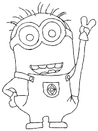 Small Picture Minion Coloring Pages Online Best Minion Coloring Pages Online