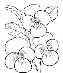 Simple Flower Coloring Pages Free Printable Flowers Springtime Fl