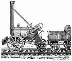 Реферат Железнодорожный транспорт его особенности основные  Рис 1 Паровоз Стефенсона Ракета