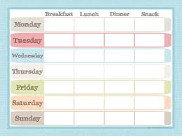 Free Weekly Meal Planner With Grocery List Printable Menu Planners Under Fontanacountryinn Com