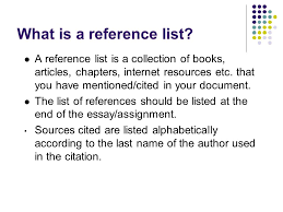 essay writing workshop lawrence cleary ide o sullivan regional  what is a reference list