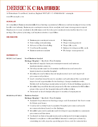 Best Ideas Of Sample Business Resume Format Transition Specialist