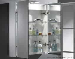 Double Mirrored Bathroom Cabinet Outstanding Recessed Mirrored Bathroom Cabinets Home Design Ideas