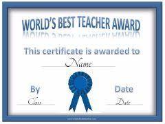 Best Teacher Certificate Templates Free Worlds Best Teacher Name Pinterest Teacher Teacher Awards And