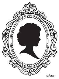 frame tattoo designs. Silhouette Girl Head In Frame Tattoo Design Designs