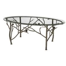 round wrought iron glass top coffee table pictures with captivating base french side legs oval cof