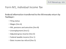mn form m1 instructions basic c minnesota income and property tax returns tax year ppt download