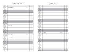 X47 Agenda Timer Mensile Per A7 A6 E A5 X47