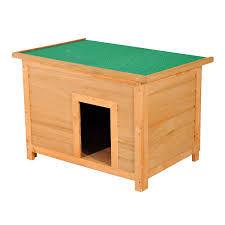 pawhut  elevated dog kennel small animal wooden outdoor