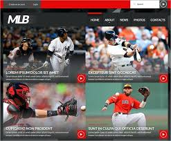 Baseball Websites Templates Baseball Team Website Template Tennis Theme Softball Website