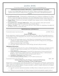 Principal Resume Samples Baxrayder Beauteous Assistant Principal Resume