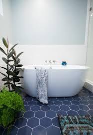 Bathroom Tile Floor Patterns Stunning Hexagon Bathroom Floor Tile Centsational Style