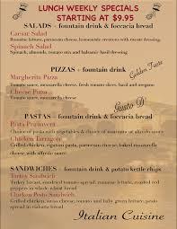 Italian Menu Extraordinary Italian Food